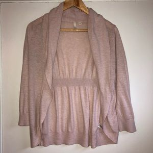 Pink 3/4 Sleeve Cardigan